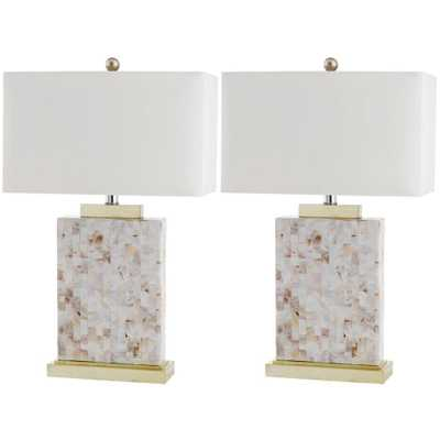 Safavieh Tory 25 in. Shell Table Lamp (Set of 2) - Home Depot