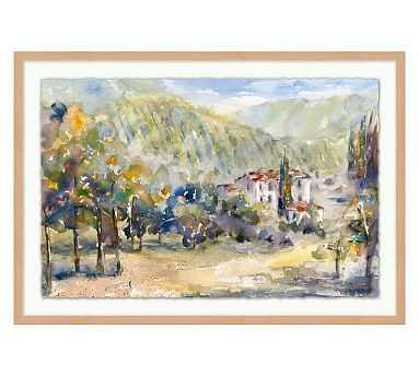 "Through the Vineyard Framed Print, 31 x 21"" - Pottery Barn"