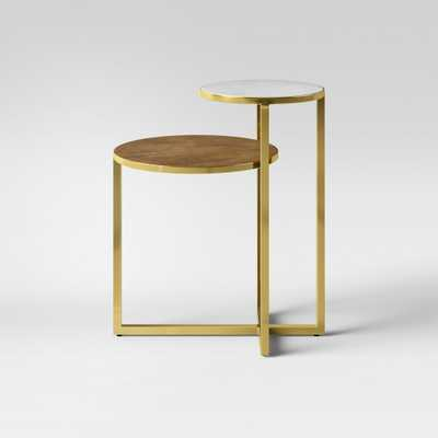 Mixed Material Marble & Metal Accent Table Gold - Project 62 - Target