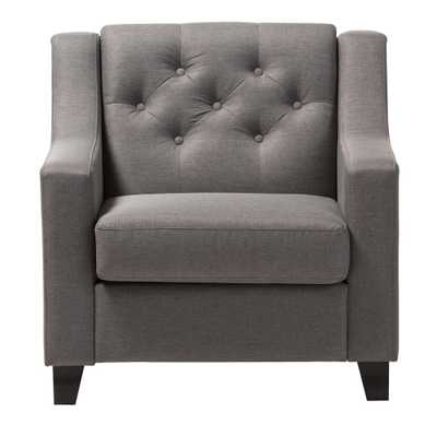 Arcadia Contemporary Gray Fabric Upholstered Accent Chair - Home Depot