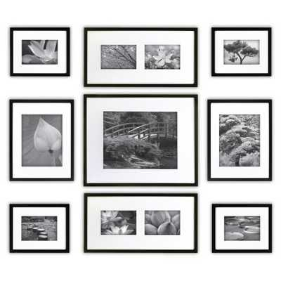 Gallery Perfect 9 Piece Multi-Size Wall Frame Set - Black - Target