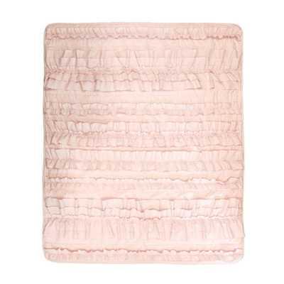 Belle Pink Blush Throw - Home Depot