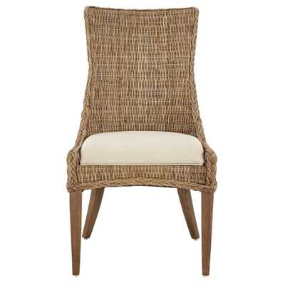 Genie Grey Kubu Wicker Dining Chair (Set of 2), Gray - Home Depot