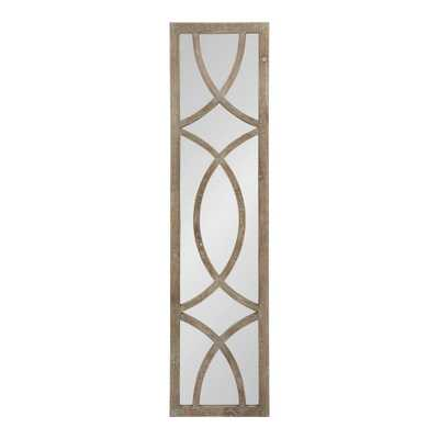 Tolland Rectangle Brown Wall Mirror - Home Depot