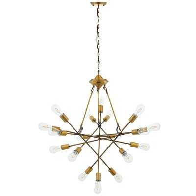 Griffey Request Antique Brass 18 Light Mid-Century Pendant Chandelier - Wayfair