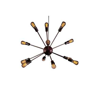 Warehouse of Tiffany Edison Jackstone Collection 12-Light Bronze Indoor Chandelier - Home Depot