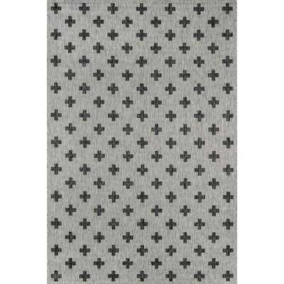 Umbria Gray Indoor/Outdoor Area Rug - Wayfair
