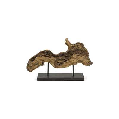 Davis Driftwood Decorative Sculpture, Brown - Home Depot