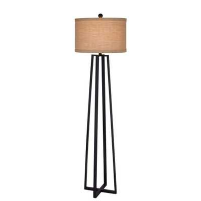 Fangio Lighting 62 in. Black Molded Metal Floor Lamp - Home Depot