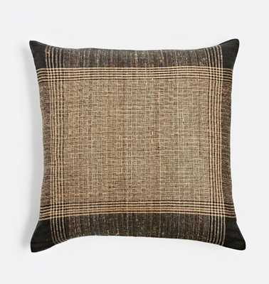 Plaid Handspun Raw Silk Pillow Cover - Rejuvenation