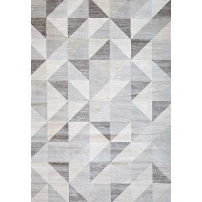 Claxton Grey/White Area Rug - Wayfair