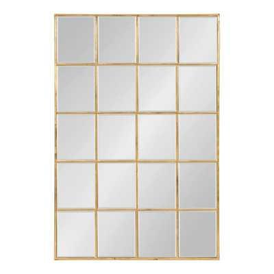 Denault Rectangle Gold Wall Mirror - Home Depot