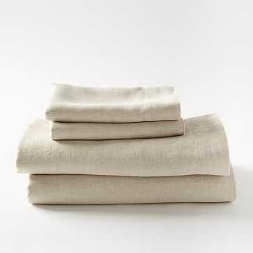 Belgian Linen Sheet Set, King, Natural Flax - West Elm