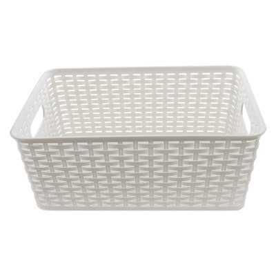 Plastic Rattan Storage Basket Organizer - Wayfair
