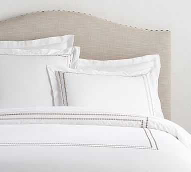 Pearl Organic Duvet Cover, Full/Queen, Simply Taupe - Pottery Barn