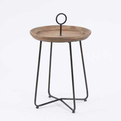 Metal And Wood Drink Table - Wayfair