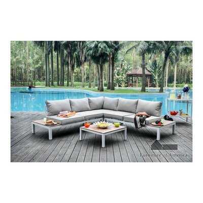 Winona Patio Sectional with Cushions - Wayfair