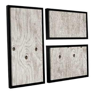 Wood Knot 3 Piece Framed Photographic Print Wall Art Set - Wayfair