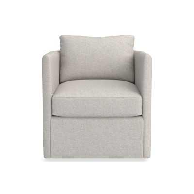 Naples Swivel Chair, Textured Linen/Cotton, Natural - Williams Sonoma