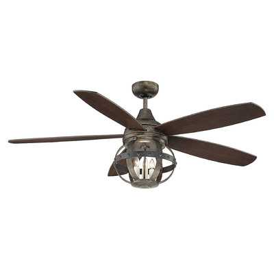 "52"" Wilburton 5 Blade Ceiling Fan with Remote, Light Kit Included - AllModern"