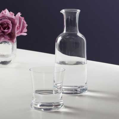 2-Piece Bedside Pitcher and Wilton Double Old-Fashioned Glass Set - CB2