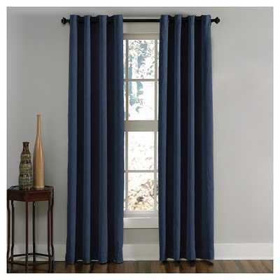 Curtainworks Lenox Room Darkening Curtain Panel - Navy (Blue) (95) - Target