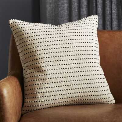 "20"" Clique Black and White Pillow with Down-Alternative Insert, Black and White - CB2"