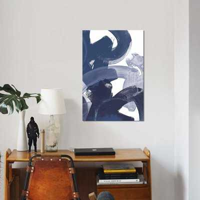 'Blue on Blue I' Print on Canvas - Wayfair