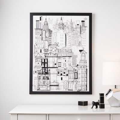 City Framed Wall Art - Crate and Barrel