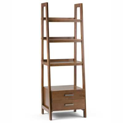 Sawhorse Medium Saddle Brown Ladder Bookcase - Home Depot
