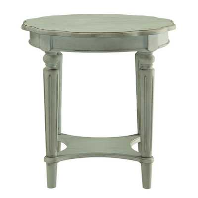 Fordon Antique Green End Table - Home Depot