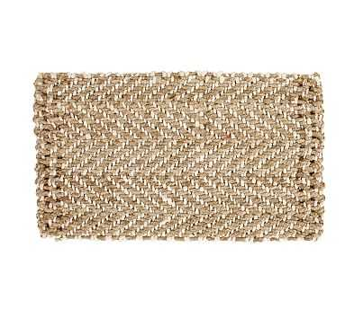 "Herringbone Natural Fiber Doormat, 18 x 30"", Natural - Pottery Barn"