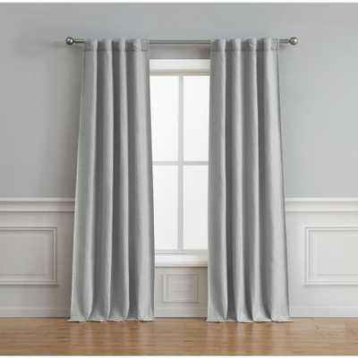 Bella Luna Astrid Thermal Room Darkening Backtab Window Curtain Pair in Light Grey - 76 in. x 84 in. - Home Depot