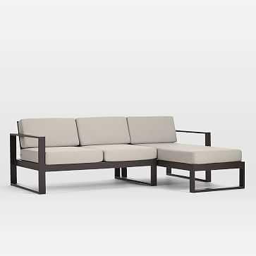 Portside Aluminum Outdoor 2-Piece Sectional, Right Arm Chaise, Left Arm Sofa - West Elm