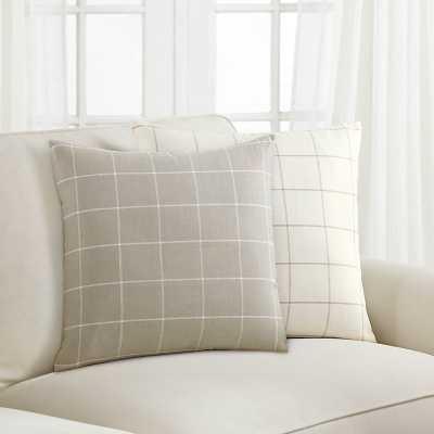 Jones Windowpane Pillow Natural/Ivory  - Ballard Designs - Ballard Designs