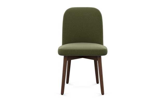 Dylan Dining Chair with Evergreen Fabric and Oiled Walnut legs - Interior Define