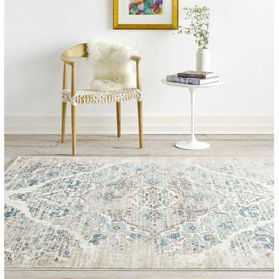 Paden Cream/Blue Area Rug - Wayfair