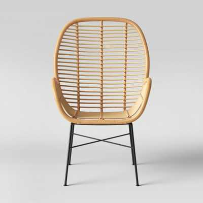 Lily Rattan Arm Chair with Metal Legs - Assembly Required - Opalhouse - Target