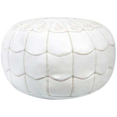 Carolos Pouf - Large, White - Wayfair