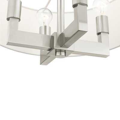 4 Light Brushed Nickel Chandelier - Wayfair