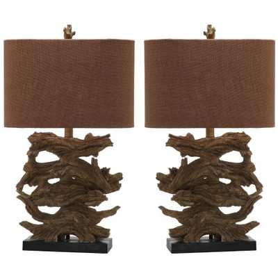 Safavieh Forester 26.5 in. Brown Table Lamp (Set of 2) - Home Depot