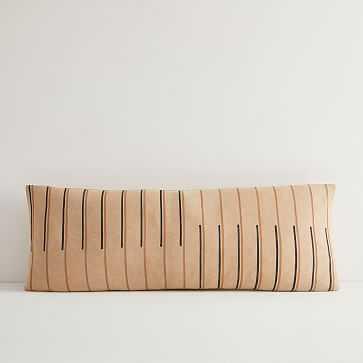JUNEDAY Hana Lumbar Pillow Cover, Large, Hazelnut - West Elm