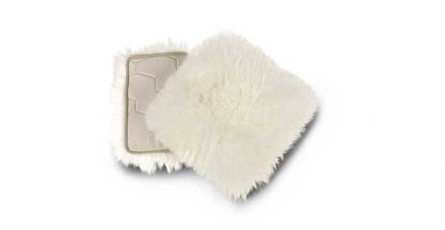 Lanna Ivory Sheepskin Seat Pad (Set of 2) - Article
