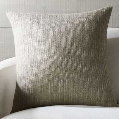 """Liano 23"""" Almond Monochrome Pillow with Down-Alternative Insert - Crate and Barrel"""