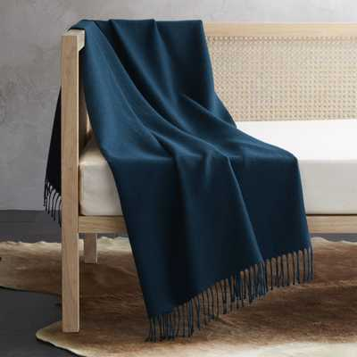 Alpaca Peacock Throw - CB2