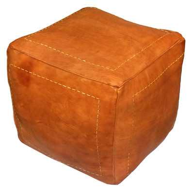 Carnuel Leather Pouf - Wayfair