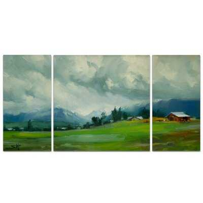 A Premium Wallowa Valley Storm Graphic Art Print Multi-Piece Image on Wrapped Canvas - Wayfair