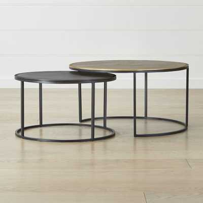 Knurl Nesting Coffee Tables Set of Two - Crate and Barrel