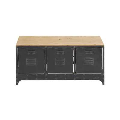 Storage Bench w/ 3 File Cabinet Drawers - Home Depot