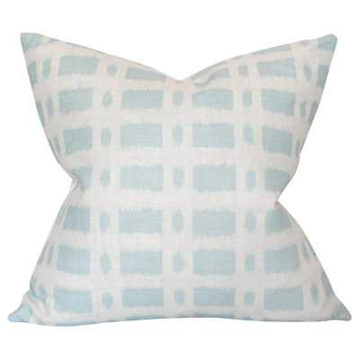 Townline Road Blue - 22x22 pillow cover / pattern on both sides - Arianna Belle